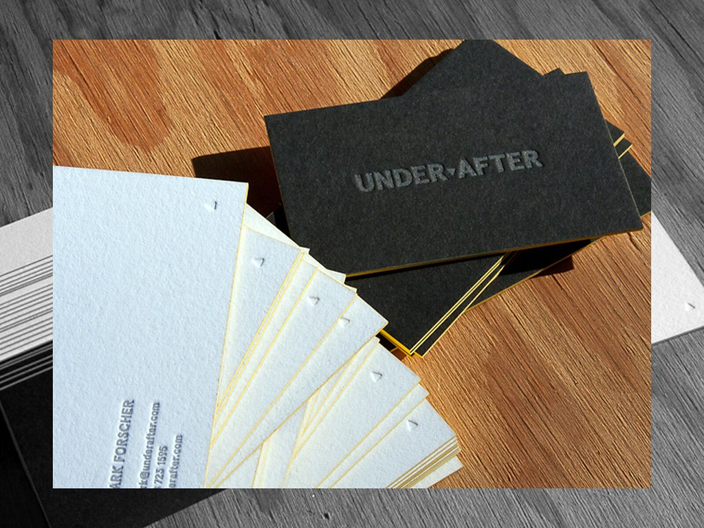 Under After Business Cards