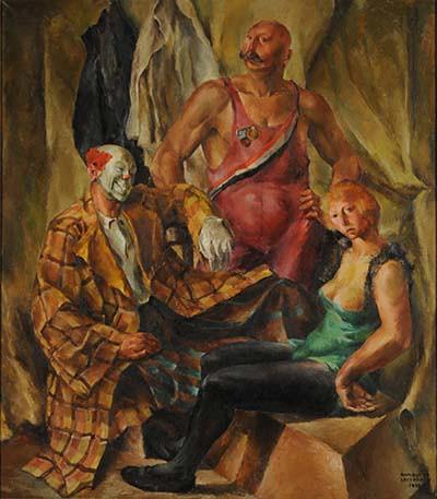 Enrique de Larrañaga Los siete titiriteros, 1943 óleo s/ tela 160 x 121 cm  Col. Museo Municipal De Arte Juan C Castagnino, Mar Del Plata