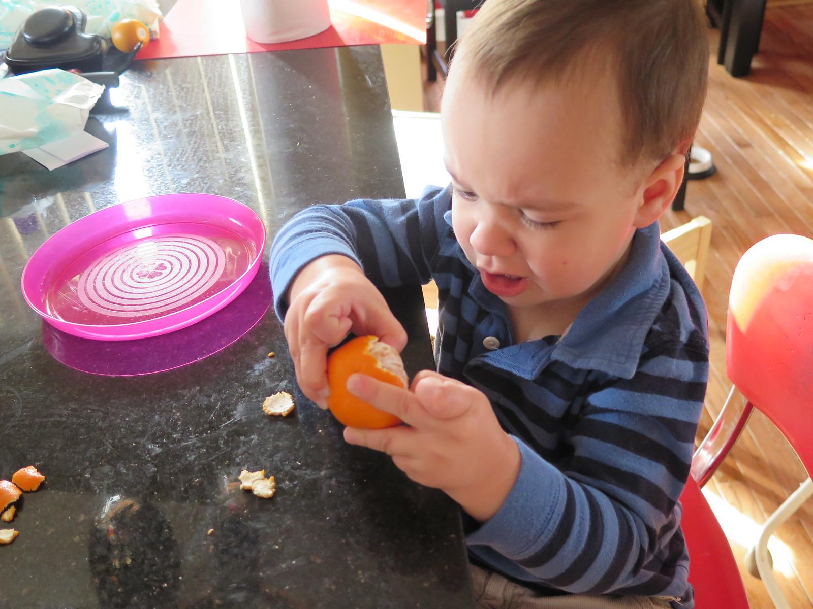 Peeling an Orange