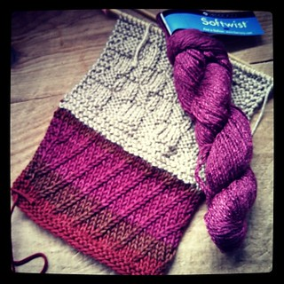 I received the #TravelingScarf and went stash diving...think this #Berroco #Softwist wins! #knitting #knitstagram #handmade