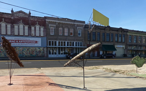 Julie Glass sculpture, Texas Ave, Shreveport by trudeau