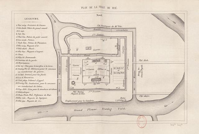 1867 PLAN DE LA VILLE DE HUÉ - Bản đồ Thành phố Huế (big size)