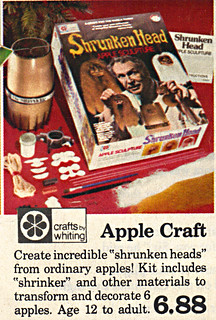 "True Value Hardware Stores :: ""SANTA'S PREVIEW; THE TOY CENTER"" pg.1 of 6 // 'SHRUNKEN HEAD APPLE SCULPTURE' kit  (( 1975 ))"