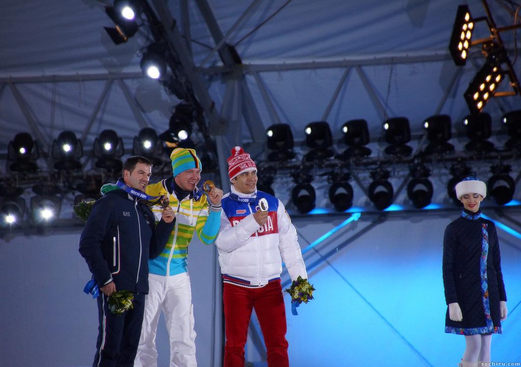 награждение олимпийских чемпионов