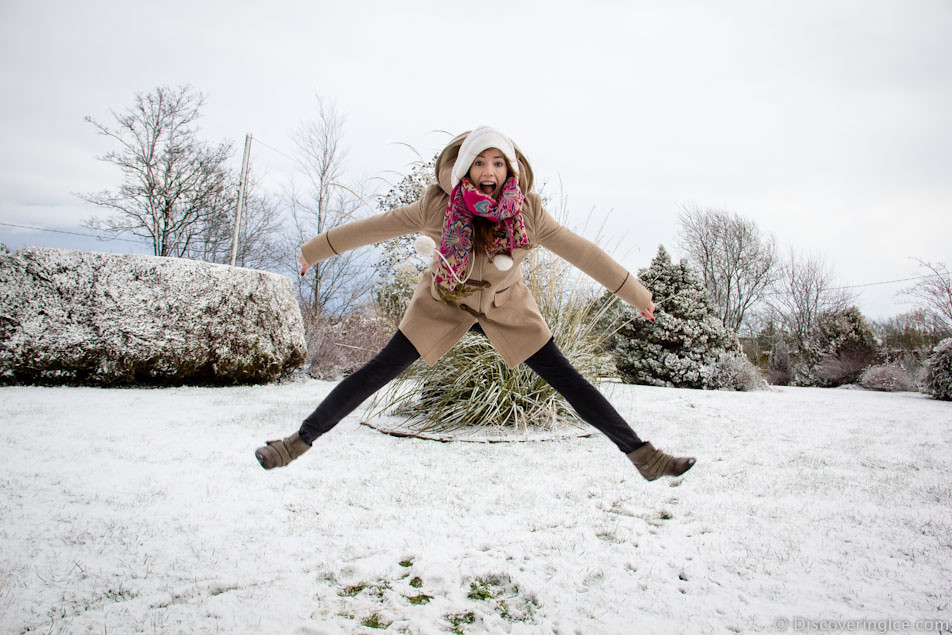 me jumping in the snow 4