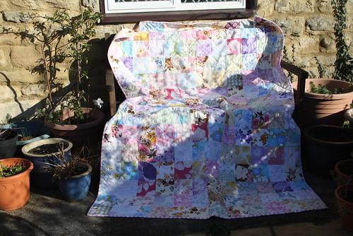 Mum's vintage sheet quilt