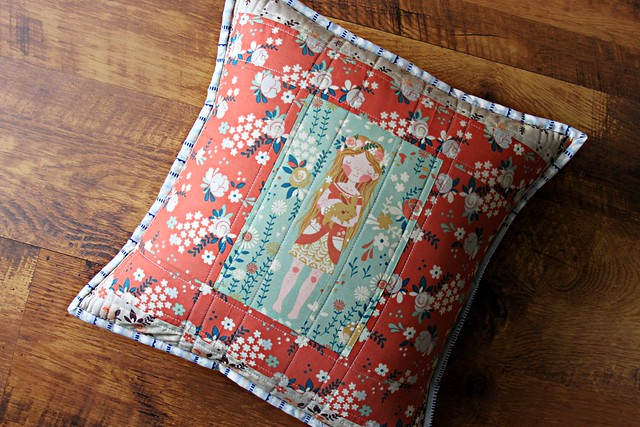 Flower Princess Quilted Pillow