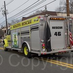 Bogota Rescue 46 Fire Truck, 2014 Bergen County St. Patrick`s Day Parade, Bergenfield, New Jersey