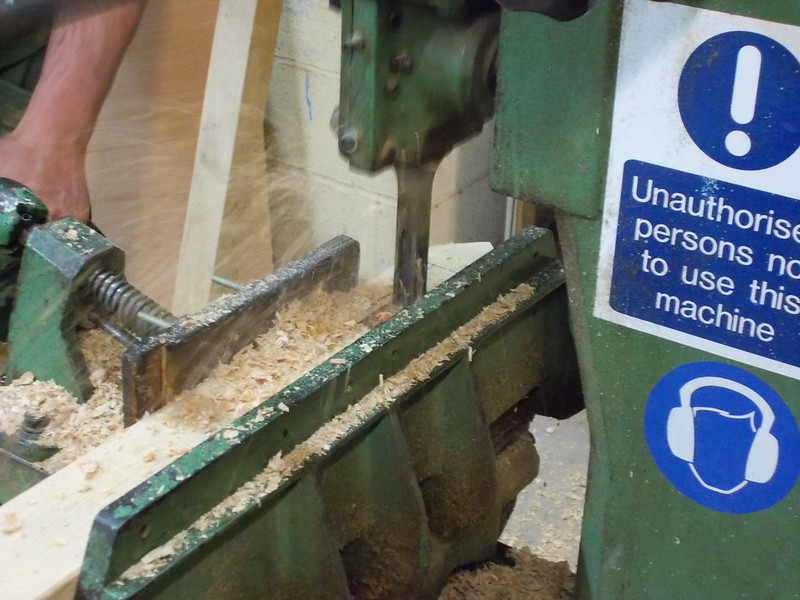 Milling out posts