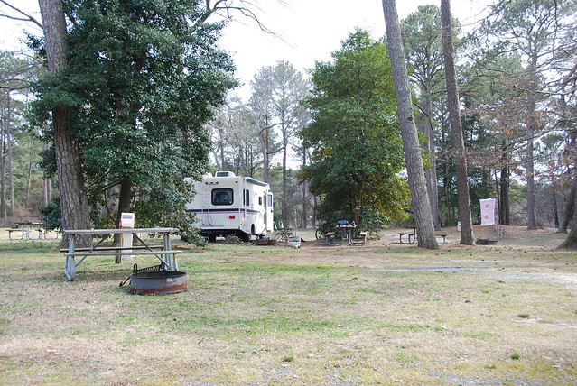 A variety of campsites available from more private to wide open