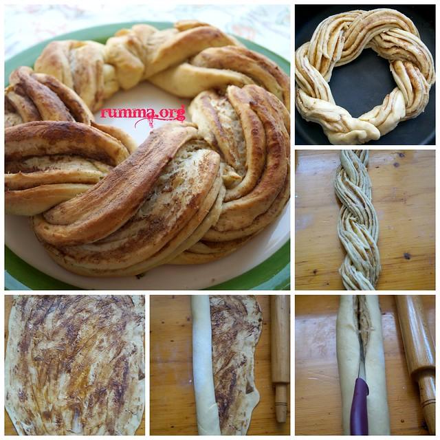 çelenk çörek yapımı