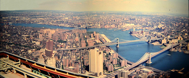 70's East River Pan From WTC