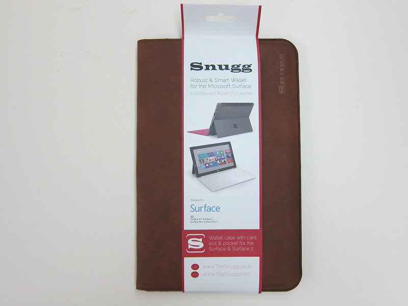 Snugg Microsoft Surface 2 Sleeve - Packaging Front