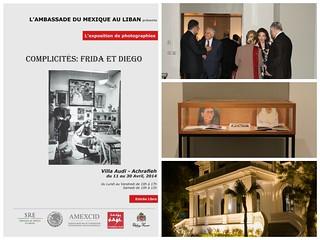 """Exposición """"Complicidades: Frida y Diego"""",  en la Villa Audi de Beirut"""
