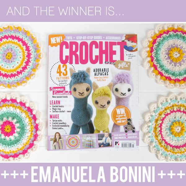 Crochet Gifts giveaway winner! | Emma Lamb