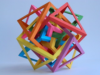 Eight Interlocking Triangular Prisms