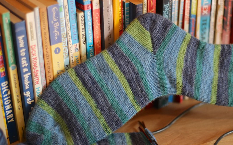 Re-learning How To Knit Socks