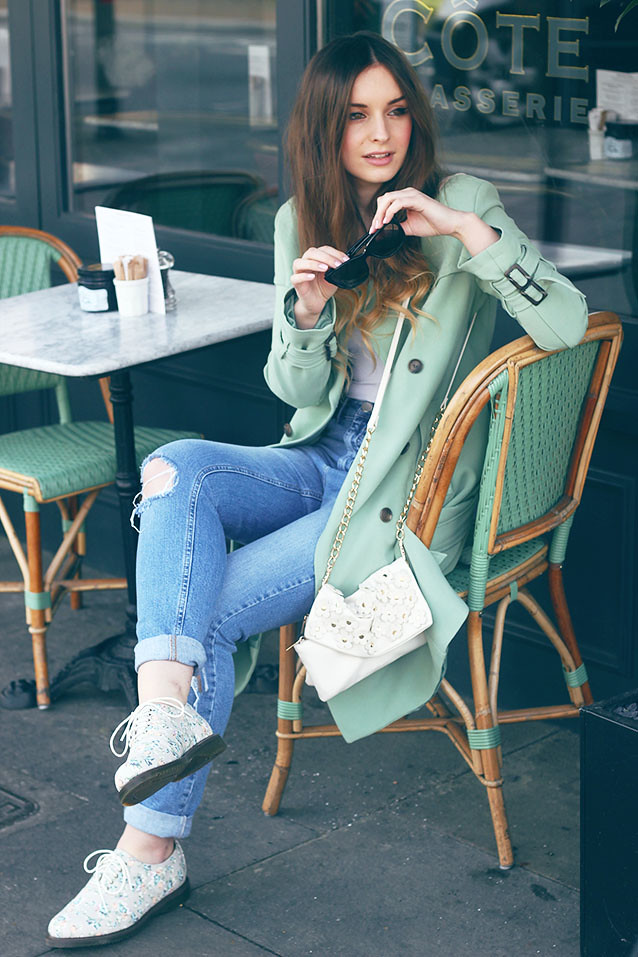 Pastel Mac Outfit Post Spring Outfit Boyfriend Jeans ASOS Olive Clothing