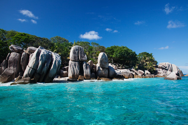Ile Coco, a small island  near La Digue, Seychelles