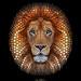 Lion - Digital Circlism by Ben Heine