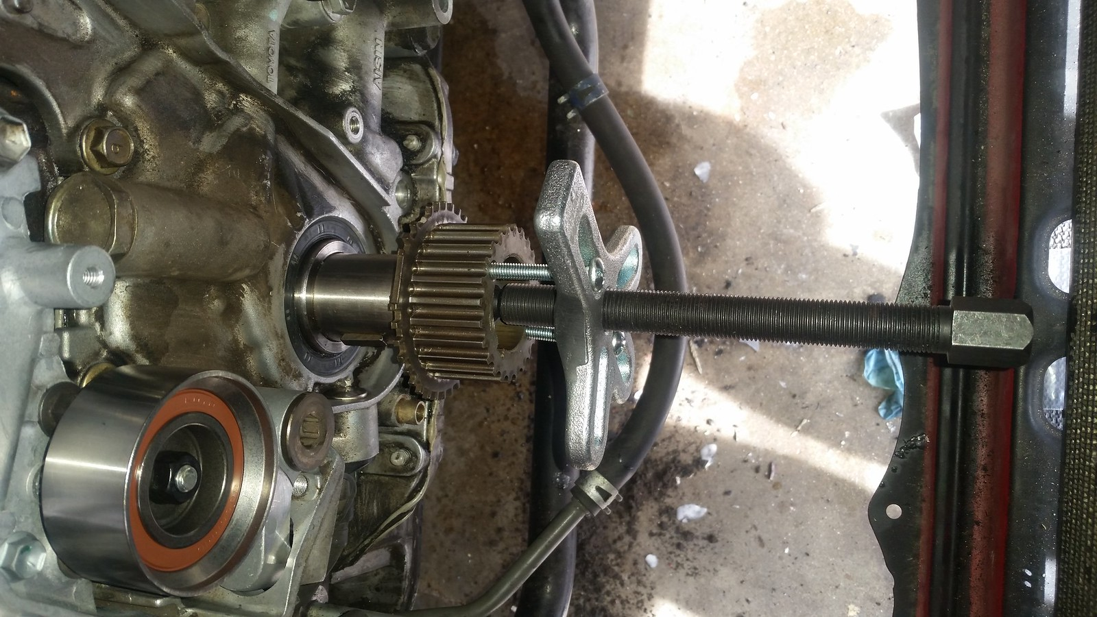 Diy complete timing beltwater pump seals lexus is forum i realized there was a tooth missing so it came back off and i got another one for 35a free crank bolt solutioingenieria Image collections