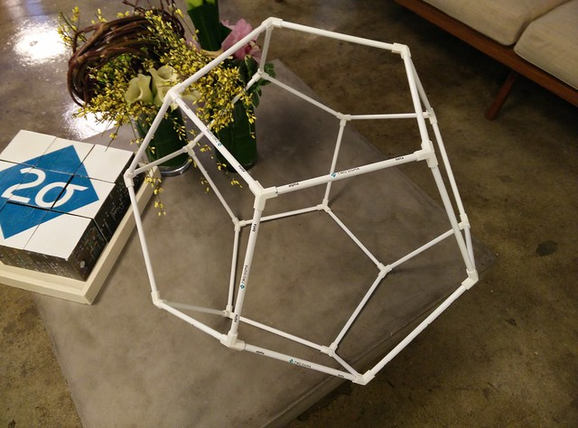 Wireframed dodecahedron