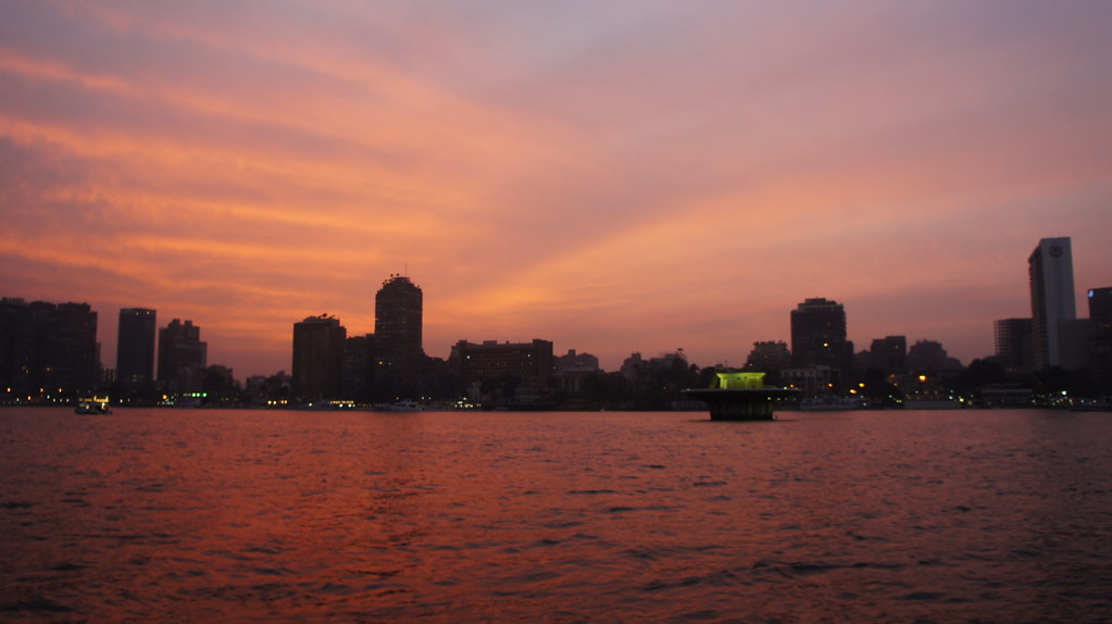 A Cairo sunset from the River Nile