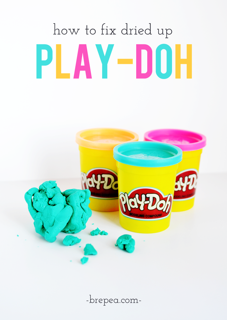 How to fix dried up Play-doh