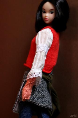 wrist warmers, salmon pink