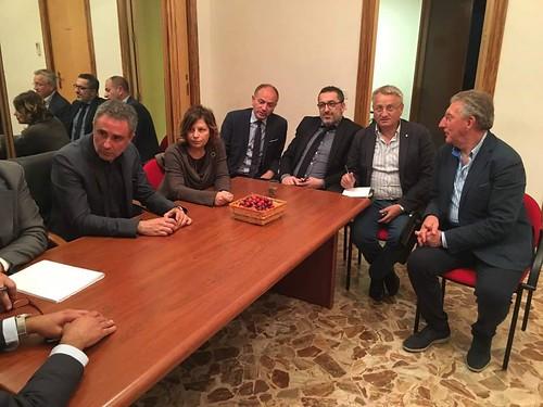 Ciliegie incontro Regione sindaco Coppi