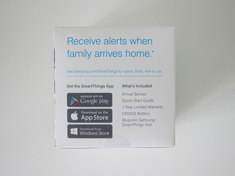 Samsung SmartThings - Arrival Sensor - Box Back