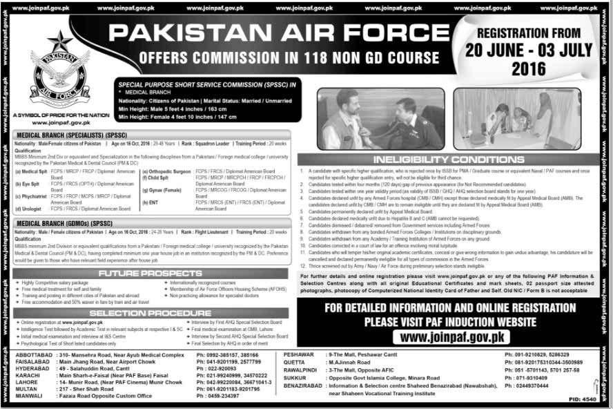 Pakistan Air Force Short Service Commission