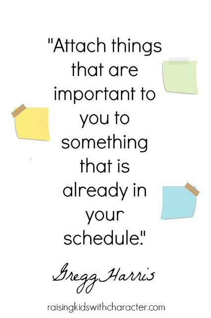Attaching Important Things To Your Schedule