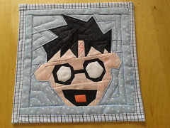 Paper Pieced Harry Potter Mini Quilt