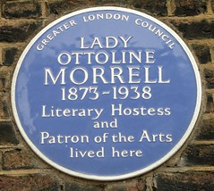 Photo of Ottoline Morrell blue plaque