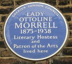 Photo of Ottoline Morrell blue plaque