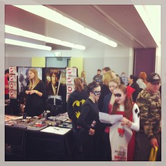 The crowd at #comicgong today.