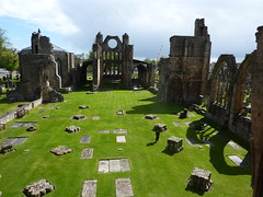 A spot of sun on Elgin Cathedral