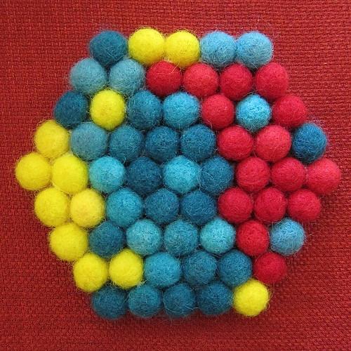 Felted Ball Trivet