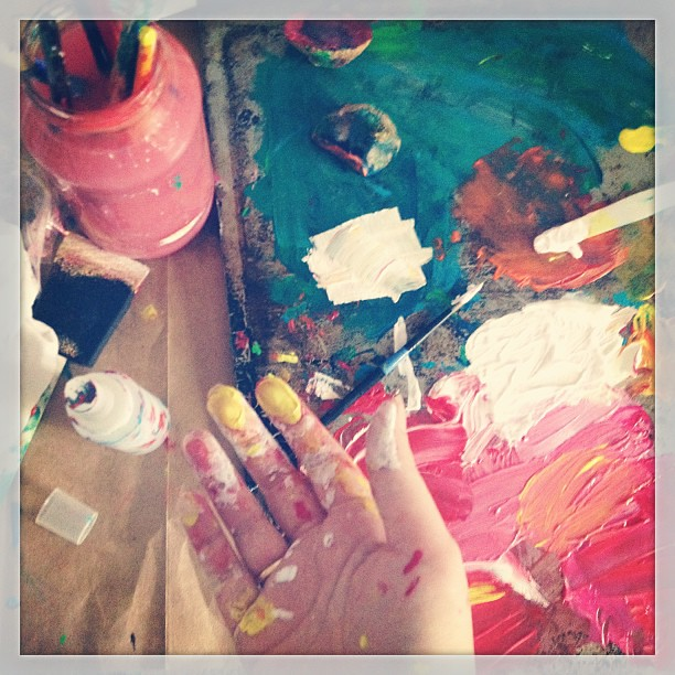 Prioritizing enthusiasm: today I painted before doing the To Do list. #tdoybook (more about enthusiasm on the blog)