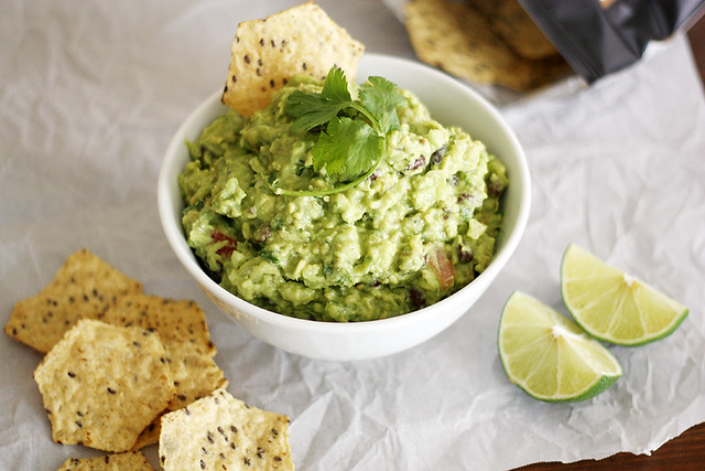 black bean-pineapple guacamole