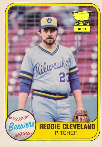 Baseball Card Bust Reggie Cleveland 1981 Fleer