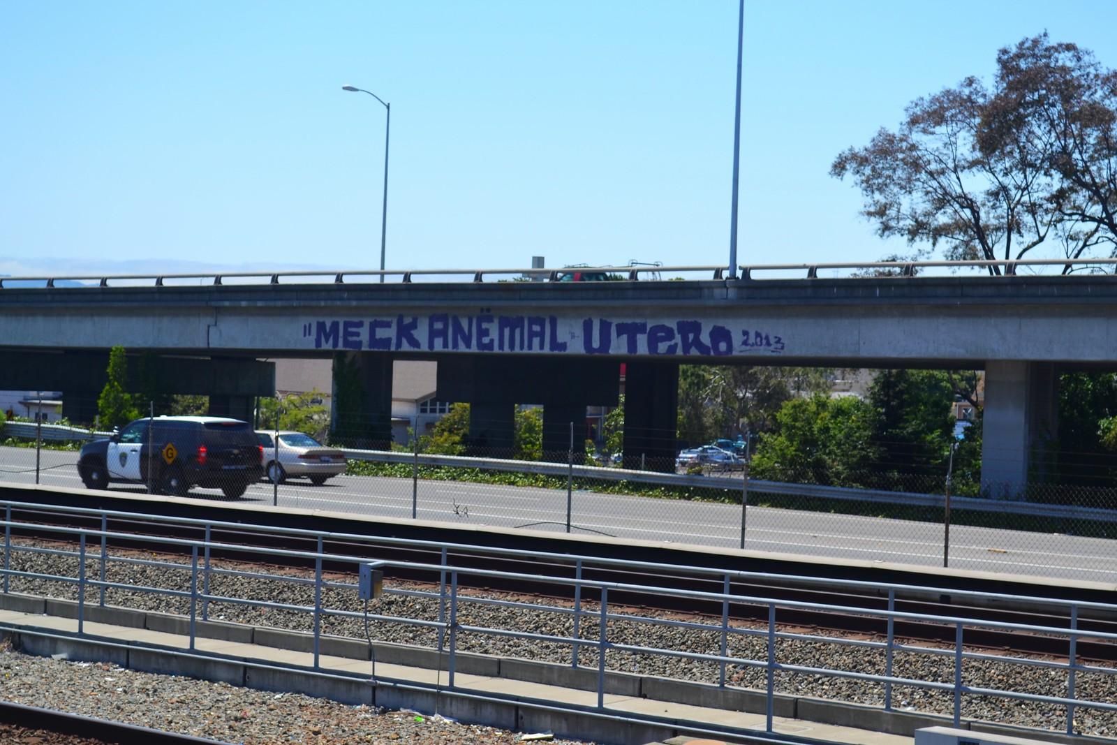 MECK, ANEMAL, UTER, PI, Graffiti, BartShot, Freeway shot, Oakland, Charles