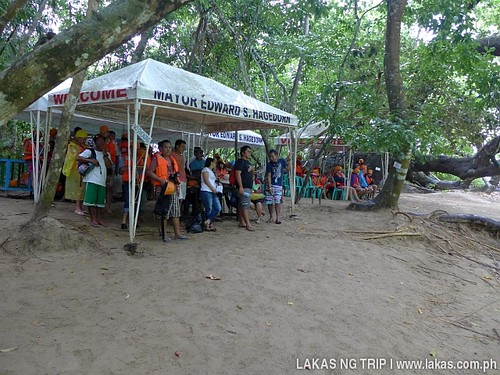 Waiting area for the paddle boats to the Underground River in Puerto Princesa, Palawan