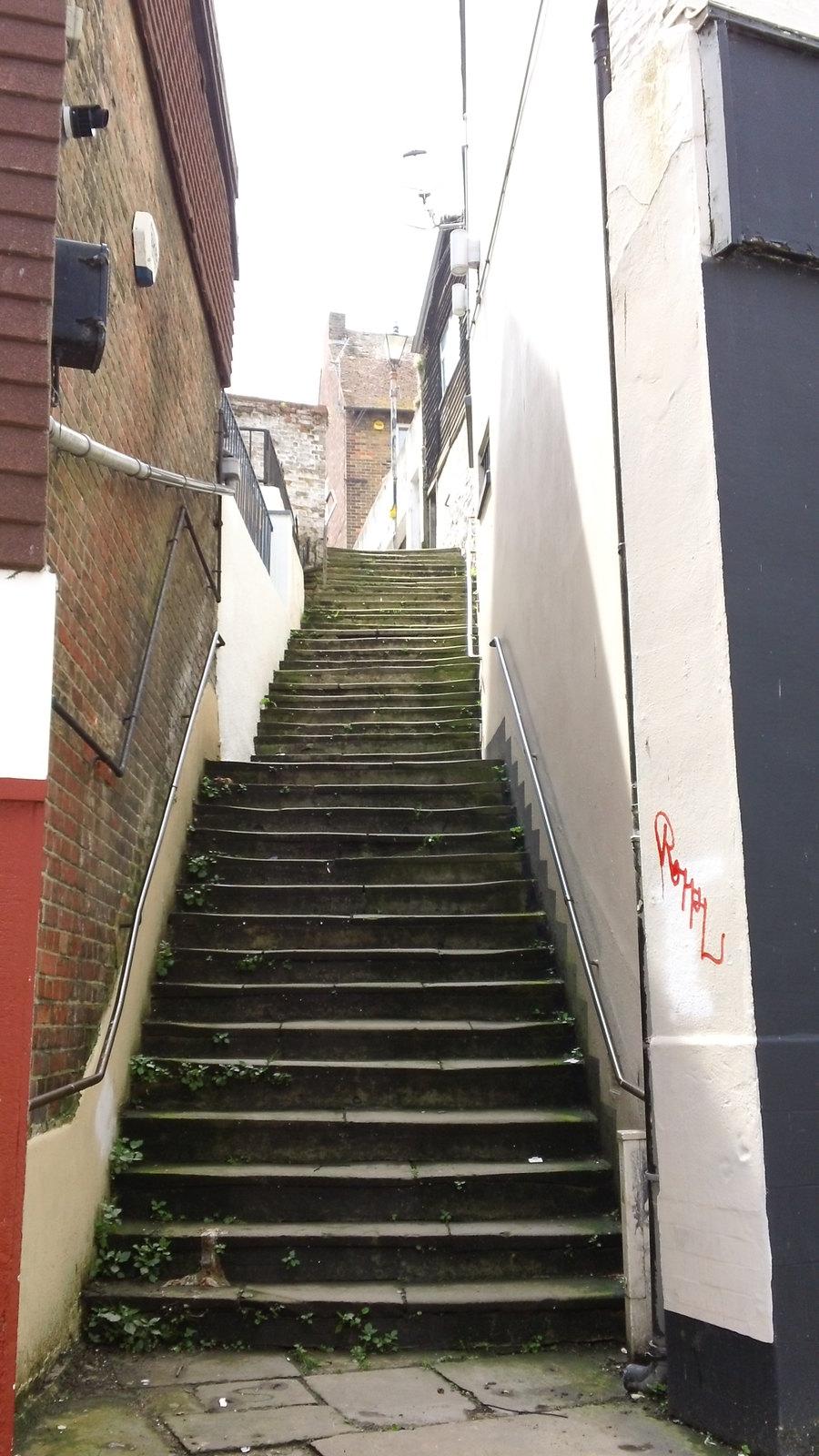 FOLKSTONE OLD TOWN ricketyoldfolkstonestairs