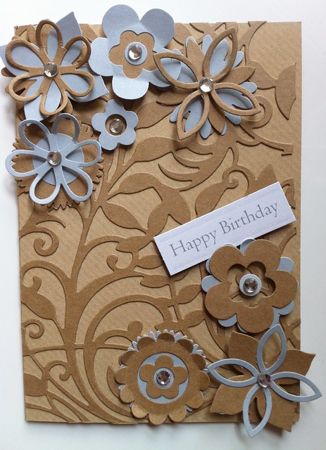 Botanical swirls kraft card