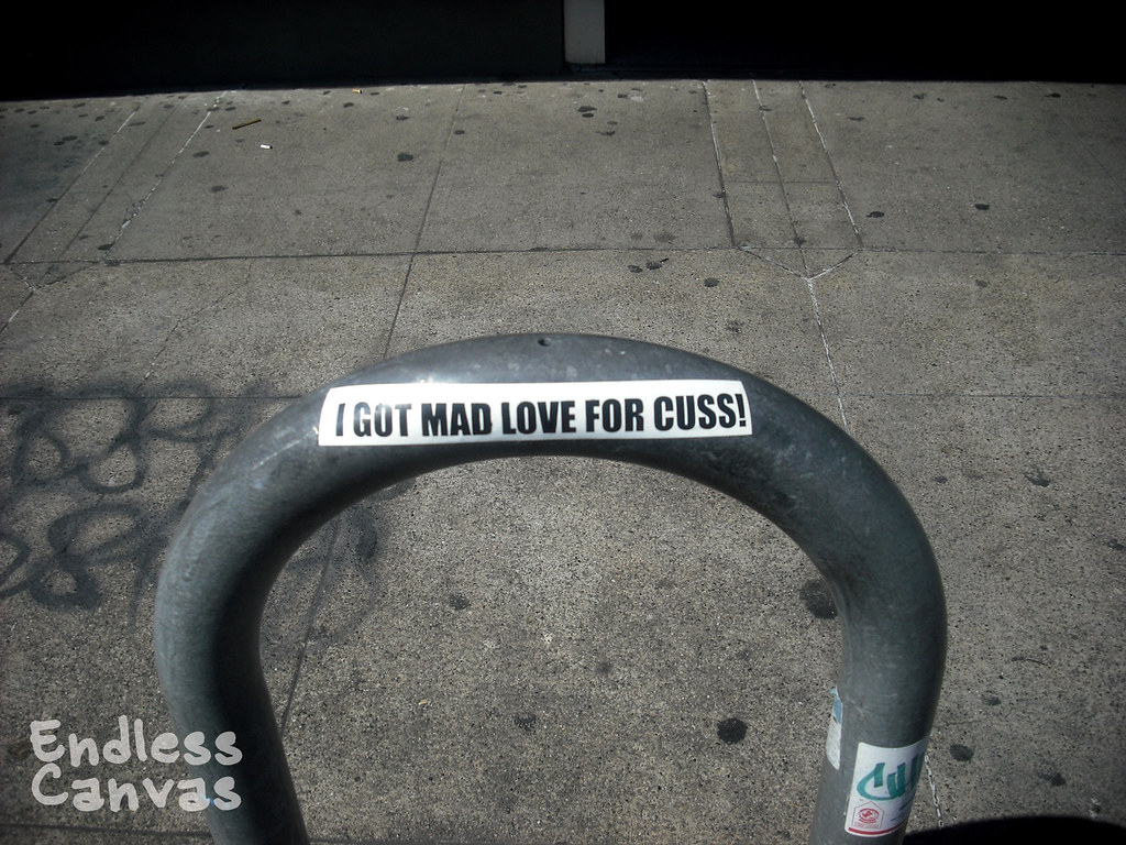 CUSS sticker - Oakland, Ca