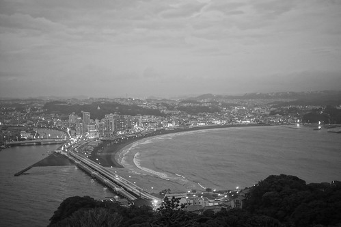 Enoshima Sea Candle twilight monochrome