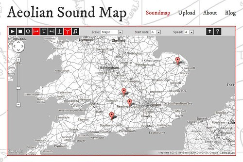 Aeolian Sound Map by Kathy Hinde and Ed Holroyd
