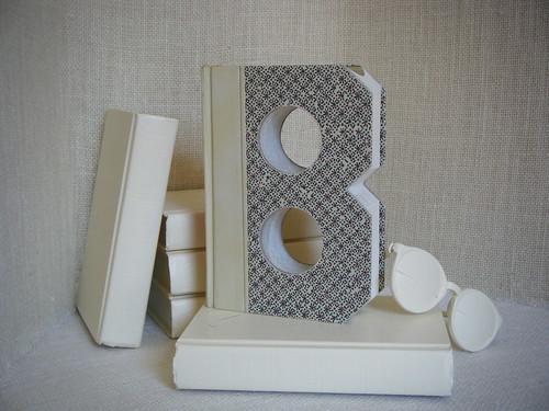 ALPHABET LETTER (B)  Book Art, OoAK, Shabby Chic Home Decor, UPcycled  REcycled REpurposed, Altered Book, Engagement Gift, Bookshelf Decor